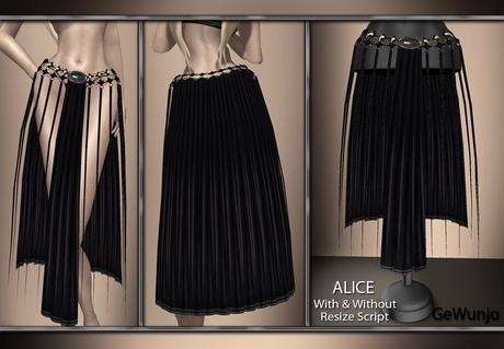 GeWunjo : ALICE black skirt