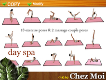 Yoga & Exercises Set Day Spa ♥ CHEZ MOI