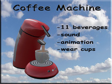 Coffee Machine Red