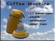 Coffee Machine Yellow
