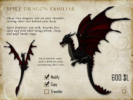 Spire Dragon Familiar - Mesh Shoulder Pet