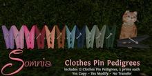 .: Somnia :. Clothes Pin Pedigrees