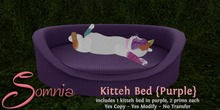.: Somnia :. Kitteh Bed {Purple} {Crated}