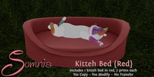 .: Somnia :. Kitteh Bed {Red} {Crated}