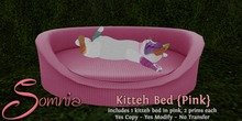 .: Somnia :. Kitteh Bed {Pink} {Crated}