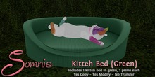 .: Somnia :. Kitteh Bed {Green} {Crated}