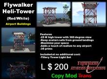 Flywalker Heli-Tower RED/White