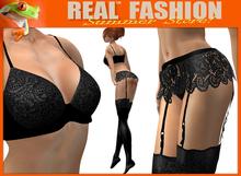 """""""Promise"""" black lace lingerie set - Mesh"""