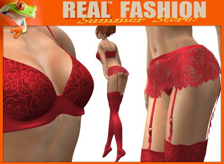"""""""Promise"""" red lace lingerie set - Mesh"""