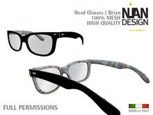 PROMO SUMMER 50% --- Nian Design Nerd Glasses - MESH -BRIAN - unisex - FULL PERM