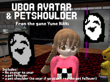 Uboa avatar, pet shoulder and pet follower