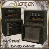LORIEN TAVERN CABINET 10 PRIMS