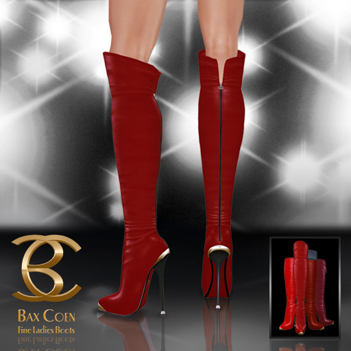 BAX Prestige Boots Red Leather