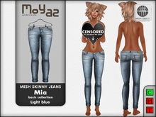 Mia Mesh Skinny Jeans - light blue