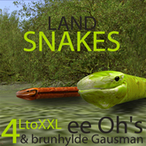 4 LAND SNAKES free roaming | sculpt | flexi