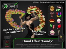 ●GD● Hand Effect 'Candy' [Multi Color, Type/Walk/Fly/Dance] Customizable Dancing Particle Hands Emitter Effect