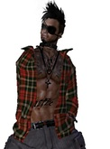 Mesh Mens Open Jacket Tartan Promo