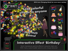 ●GD● Interactive Effect 'Birthday' [Send Multi Color Effects to anyone] HUD controlled particle/texture emitter!