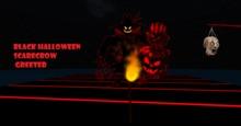 Black Halloween Scarecrow Greeter -