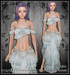 [Wishbox] Arabella (Petites) - Foam - Fantasy Belly Dance Costume for Petite Mesh Avatars