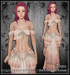 [Wishbox] Arabella (Petites) - Shell Pink - Fantasy Belly Dance Costume for Petite Mesh Avatars
