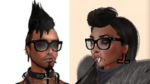 Mesh Nerd Glasses Black