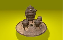 "0.6 LI ""NEKKA Avian Steampunk Teaset"" any texture (mod, copy)"