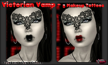 .:Glamorize:. Victorian Vamp - 2 Lips, 1 Eye/Lace Layer + 2 Combos