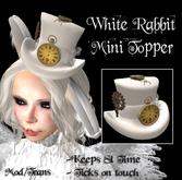 .:-CatniP-:.  White Rabbit Mini Topper  - Alice in Wonderland Top Hat