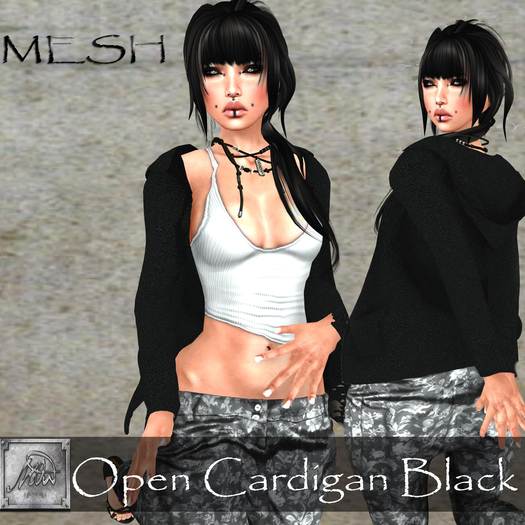 GIFT <3 [M.o.w] Open Cardigan Black