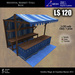 LOW PRIM - Medieval Market Stall blue (G&S)