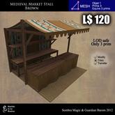 LOW PRIM - Medievla Market Stall browm (G&S)