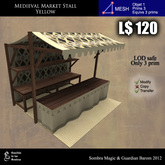 LOW PRIM - Medieval Market Stall yellow (G&S)