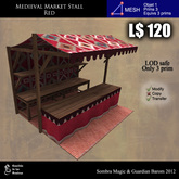 LOW PRIM - Medieval Market Stall  red ( G&S )