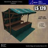 LOW PRIM -  Medieval Market Stall green ( G&S)