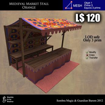 LOW PRIM - Medieval Market Stall orange (G&S)