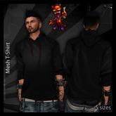..:: Drunk Devil ::.. ~ Black ~ MESH Long Sleeve Hooded