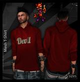 ..:: Drunk Devil ::.. ~ DD Red ~ MESH Long Sleeve Hooded