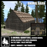 Animal Barn with locked doors R&A houses for animals