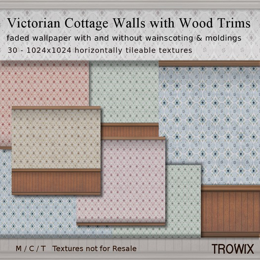 Trowix - Victorian Cottage Walls w/ Trims - Light Textures