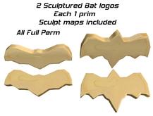2 sculptured bat logos + sculpt maps - Full Perm - Halloween