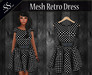 .:SS:. BLACK POLKADOTS MESH RETRO DRESS