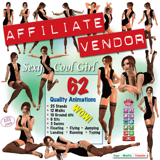 AFFILIATE VENDOR *** BEST SELLER **** SEXY COOL GIRL *AO *** FOR RESELLERS - This is a Business product NOT the AO