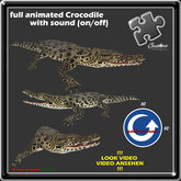 Crocodile Alligator Gator full animated with sound