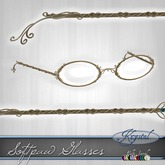 ::: Krystal ::: Softpaw Glasses - Gold (MultiJewel)