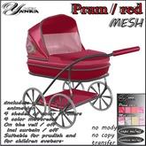 Pram Mesh / red from <<Yanka>>