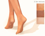 Ladies tip toe bare feet skin textures