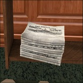 Pile of Newspapers (Mesh) [Victorian Clutter]