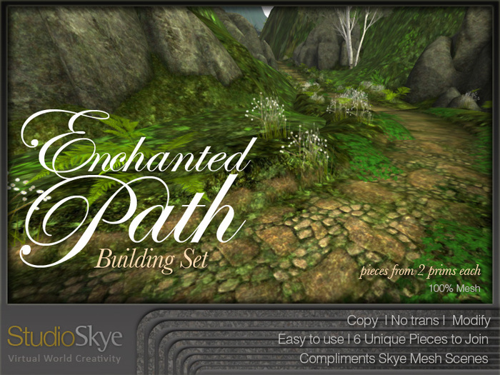 Skye Enchanted Path Building Set - 100% MESH
