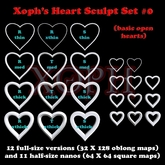 Sculpted Hearts Set #0 (Basic Shapes) - Heart Sculpties - Sculpty - with n2 nano VALENTINE
